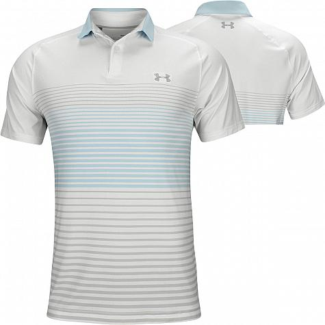 785e3b55230 Under Armour Iso-Chill Power Play Golf Shirts - White - Jordan Spieth U.S.  Open Sunday