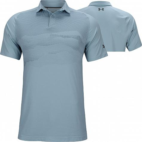 2cd588a41da Under Armour Iso-Chill Airlift Golf Shirts - Boho Blue - Jordan Spieth U.S.  Open Saturday