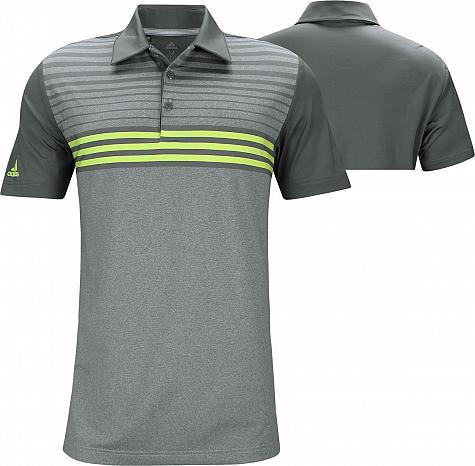 e8d983c4 Adidas Ultimate 3 Stripe Heather Gradient Golf Shirts - Sergio ...