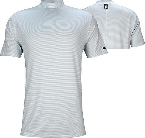 c1ace367 Nike Tiger Woods Dri-FIT Vapor Golf Mocks - Pure Platinum - Tiger Woods  First Major