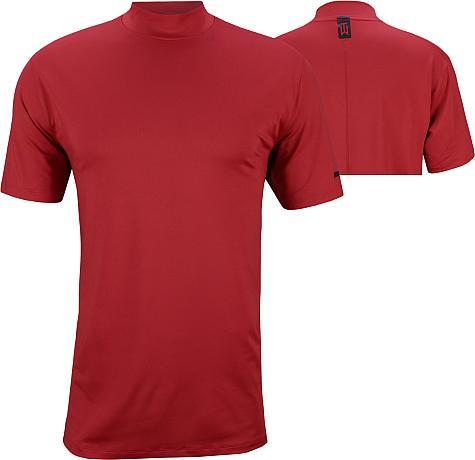 52342ba4 Nike Tiger Woods Dri-FIT Vapor Golf Mocks - Gym Red - Tiger Woods Major  Sundays