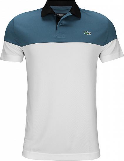 9c676a02e52 Lacoste Color Blocked Golf Shirts - Blanc White