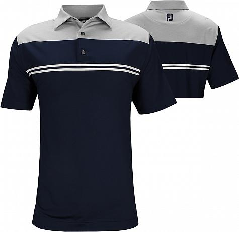 FootJoy ProDry Performance Heather Color Block Lisle Golf Shirts - FJ Tour Logo Available
