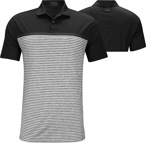 c598a052 Nike Dri-FIT Tiger Woods Vapor Stripe Block Golf Shirts - Black - Tiger  Woods PGA Championship - Friday