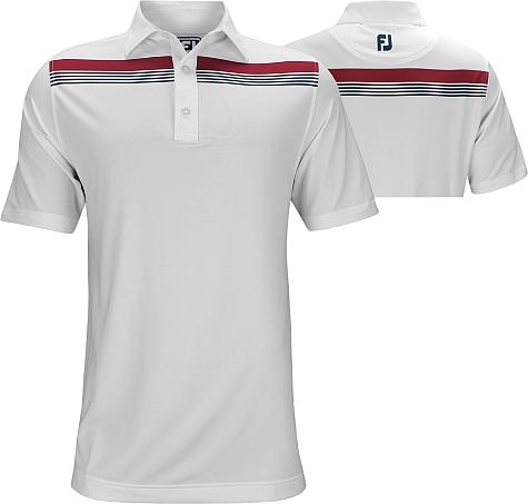 FootJoy ProDry Performance Lisle Engineered Chestband Golf Shirts - Athletic Fit - FJ Tour Logo Available - Previous Season Style