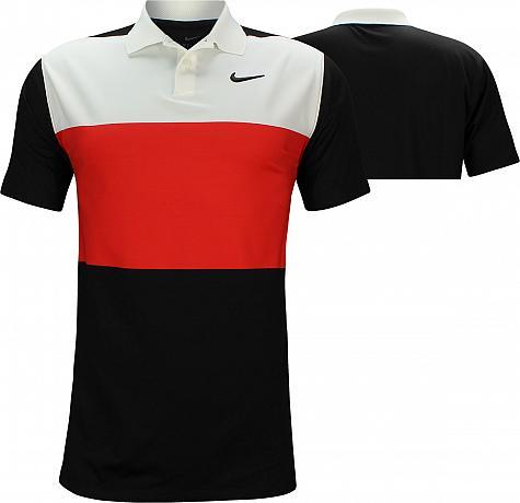19e3880a Nike Dri-FIT Vapor Control Color Block Golf Shirts - Habanero Red - Brooks  Koepka PGA Championship Thursday