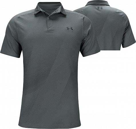 48297455e5d Under Armour Iso-Chill Drop Zone Golf Shirts - Pitch Grey - Jordan Spieth  PGA Championship Friday
