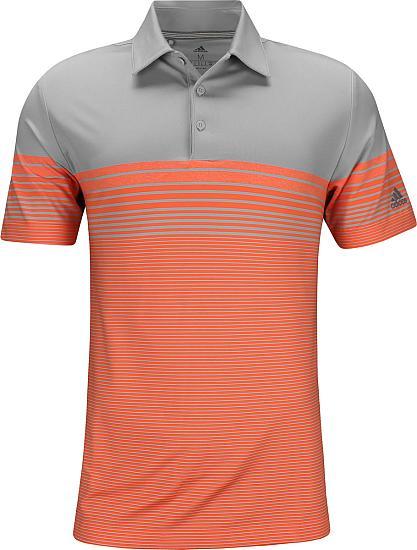 ffca49d9 Ultimate Gradient Block Stripe Golf Shirts - Hi-Res Coral
