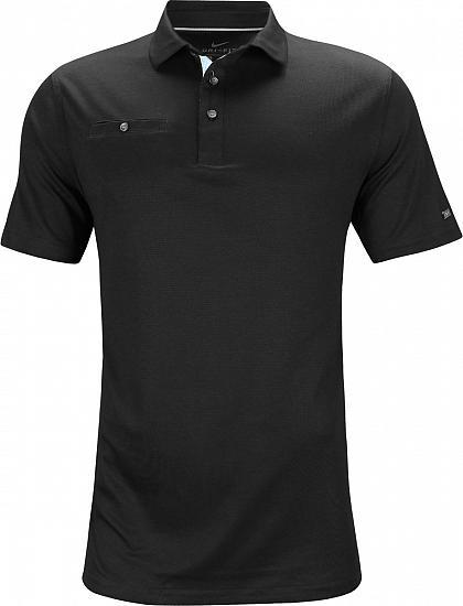 16e78d081 Nike Dri-FIT Player Golf Shirts - Black - Rory McIlroy PGA Championship  Friday