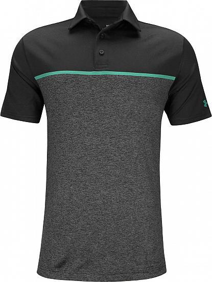 fadf0589 Playoff 2.0 Chest Stripe Golf Shirts - Black
