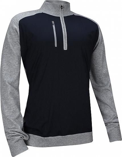 FootJoy Wind Tech Quarter-Zip Merino Blend Golf Sweaters - FJ Tour Logo Available