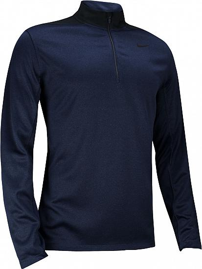 Nike Dri-FIT Core Half-Zip Left Chest Logo Golf Pullovers - Previous Season Style