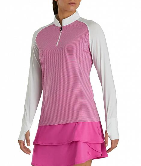 FootJoy Women's Sun Protection Quarter-Zip Golf Pullovers - FJ Tour Logo Available