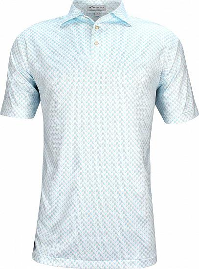 Peter Millar Hudson Printed Skulls Stretch Jersey Golf Shirts