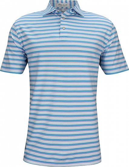 Peter Millar Center Stripe Stretch Jersey Golf Shirts
