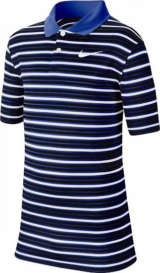good texture detailing brand new Nike Dri-FIT Victory Stripe NEW Junior Golf Shirts