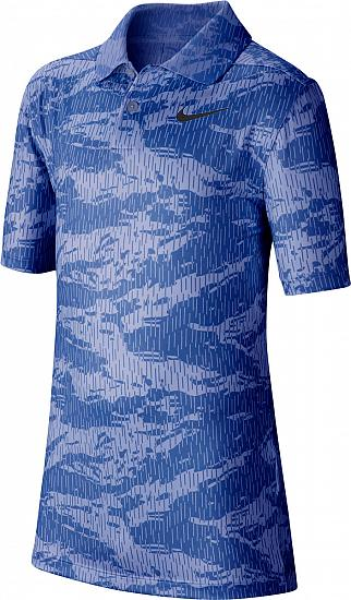 get cheap various styles detailed pictures Nike Dri-FIT Print Junior Golf Shirts