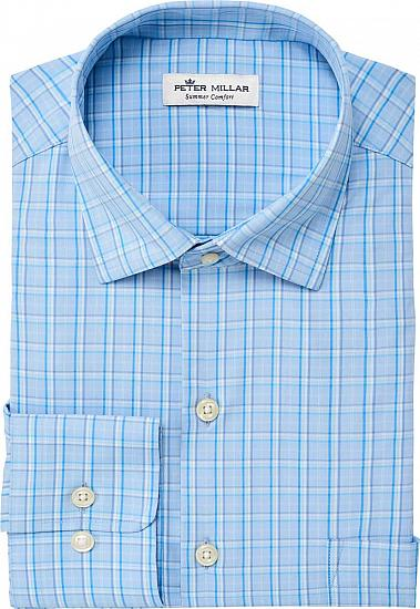 Peter Millar Gabe Plaid Woven Performance Button-Downs