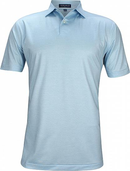 Peter Millar Crown Crafted Baldwin Printed Dot Stretch Jersey Golf Shirts - Tour Fit