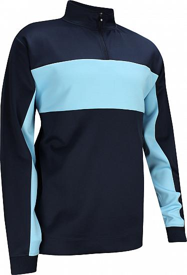 FootJoy Double Jersey Pieced Quarter-Zip Golf Pullovers - FJ Tour Logo Available