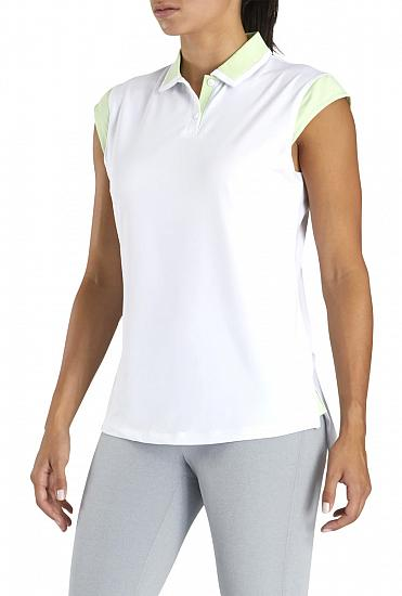 FootJoy Women's Birdseye Jersey Cap Sleeve Golf Shirts - FJ Tour Logo Available
