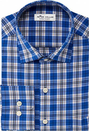 Peter Millar Delbert Plaid Sport Woven Performance Button-Downs