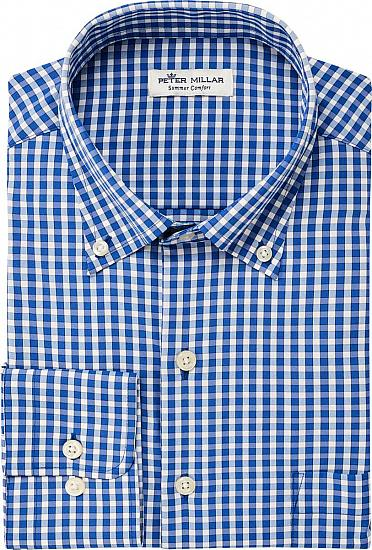 Peter Millar Humphrey Gingham Sport Woven Performance Button-Downs