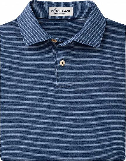 Peter Millar Halford Stripe Stretch Jersey Junior Golf Shirts