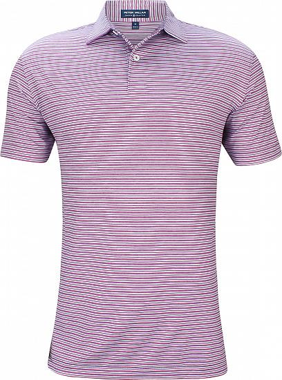 Peter Millar Crown Crafted Coltrane Stripe Stretch Jersey Golf Shirts - Tour Fit