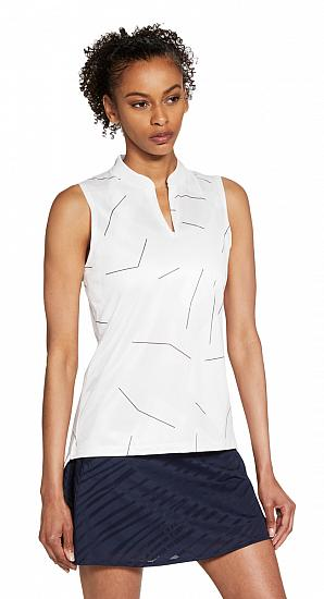 Nike Women's Breathe Jacquard Print Sleeveless Golf Shirts
