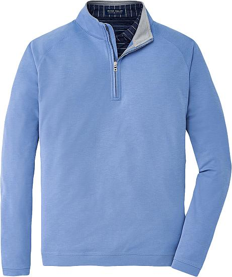 Peter Millar Crown Crafted Bullseye Precision Wool-Blend Quarter-Zip Golf Pullovers - Tour Fit
