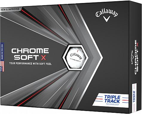 Callaway Chrome Soft X Triple Track Personalized Golf Balls - Buy 3, Get 1 Free - FREE PERSONALIZATION