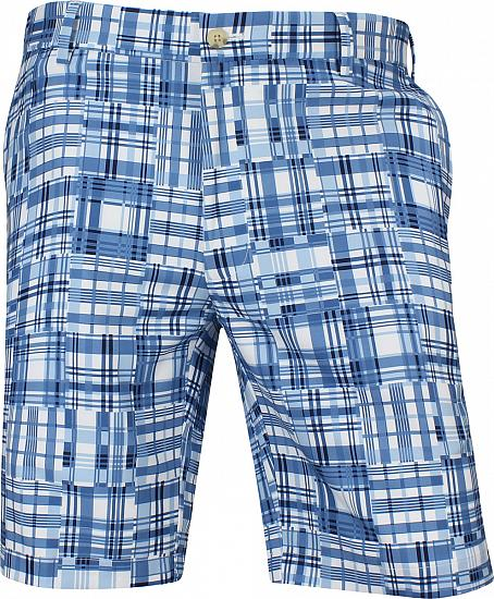 Peter Millar Crown Crafted Stealth Madras Performance Golf Shorts
