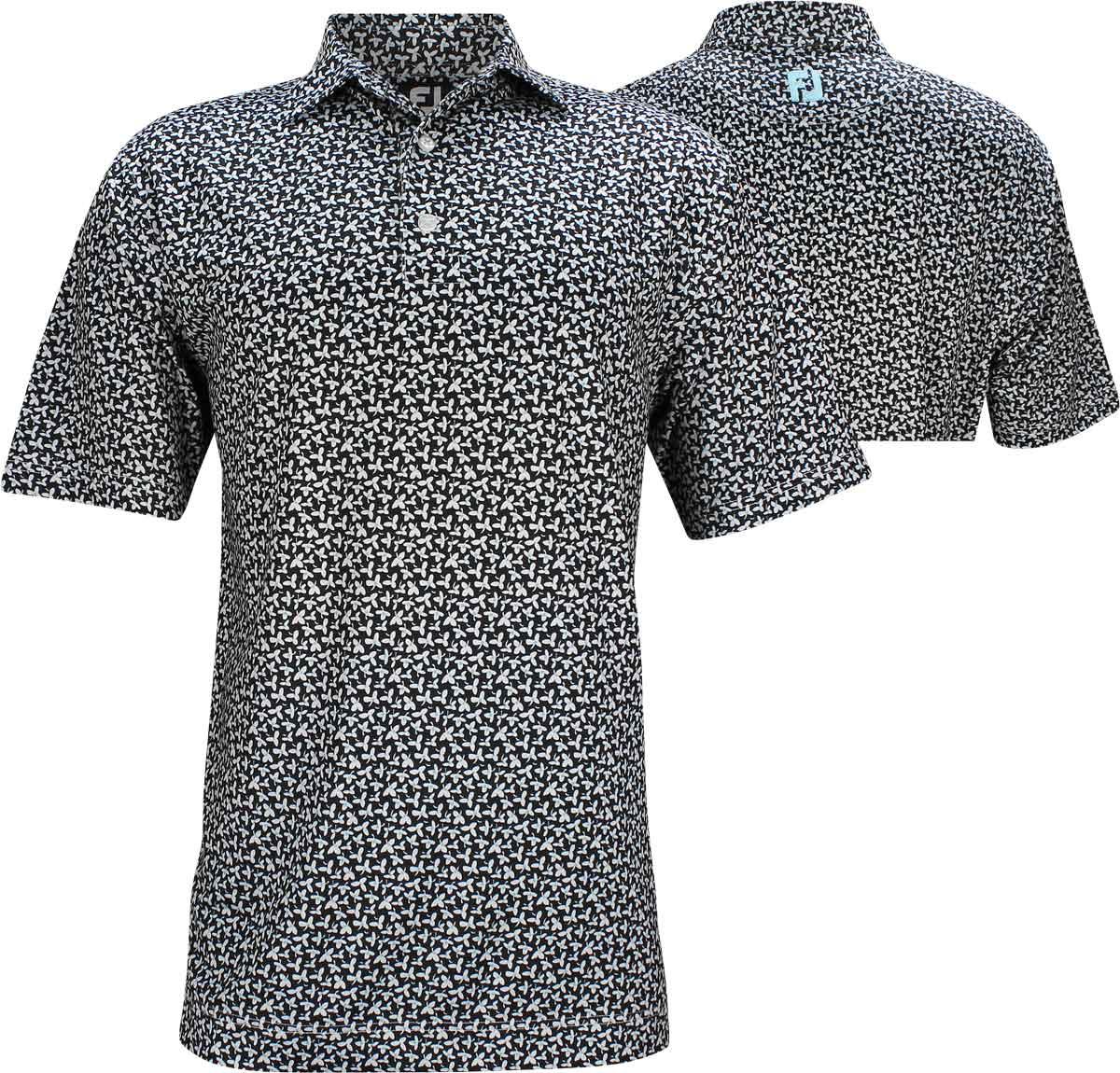 Footjoy Lisle Floral Print Golf Shirts