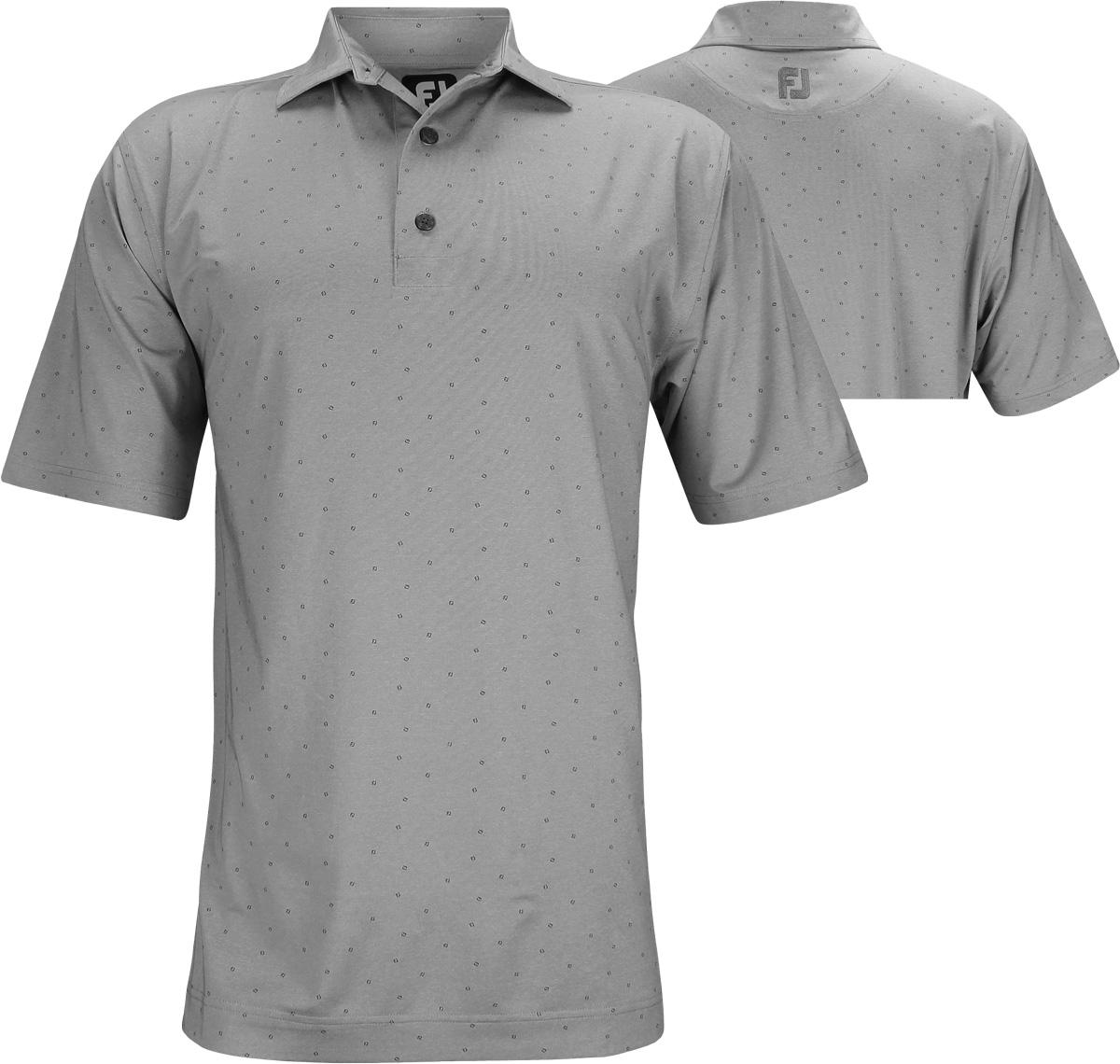 Footjoy Lisle Fj Print Golf Shirts
